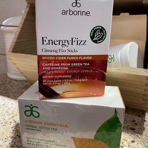 Arbonne spiced cider punch energy fizz sticks